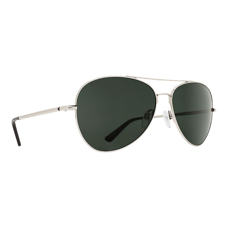 Image of Spy Whistler Silver Sunglasses - Happy Grey Green