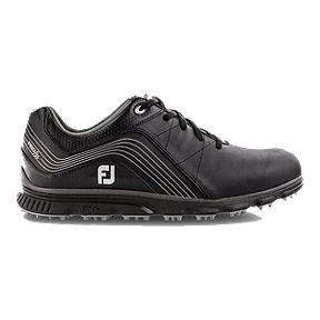357208e8bdb FJ Men s Pro SL Black Golf Shoe