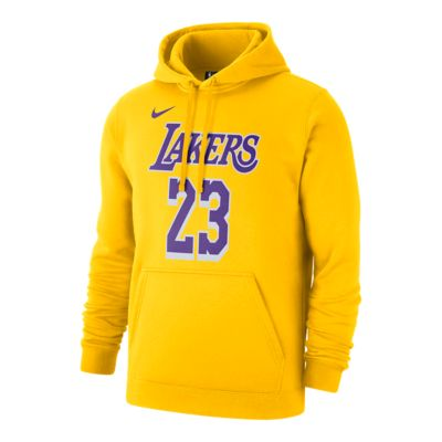 designer fashion f6b2f 7b76d Los Angeles Lakers Men's Nike LeBron James Hoodie - Yellow