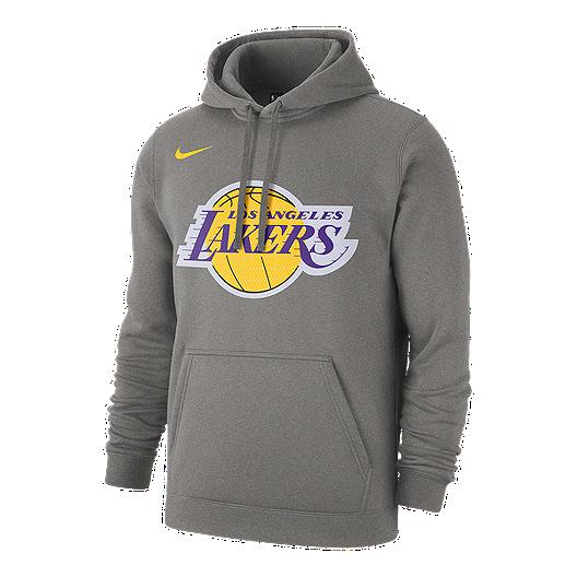 timeless design a5053 9f6df Los Angeles Lakers Men's Nike Club Fleece Hoodie - Charcoal