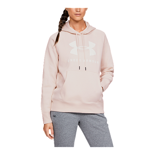 ca6faf5621 Under Armour Women's Rival Fleece Sportstyle Graphic Hoodie - Apex Pink