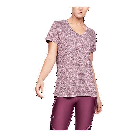 67541093f5 Under Armour Women's Tech Twist V-Neck T Shirt - Level Purple