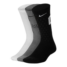 Nike Youth Cushion Crew Sock - 3 Pack - Black