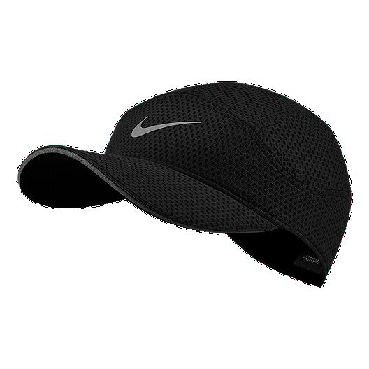 e163c08b4 Nike Men's Tailwind Run Hat - Black/Silver
