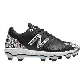 b5ad6249b434e New Balance Men's PL4040V5 2E TPU Low Cut Baseball Cleats - Black/White