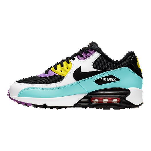 Nike Men's Air Max 90 Essential Shoes BlackVioletPink