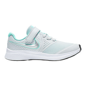 Nike Girls' Star Runner 2 Shoes - Grey/Teal