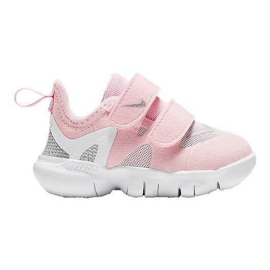 sale retailer 647c0 a23ec Nike Toddler's Free 5.0 Shoes - Pink/Silver