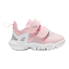 Nike Toddler's Free 5.0 Shoes - Pink/Silver