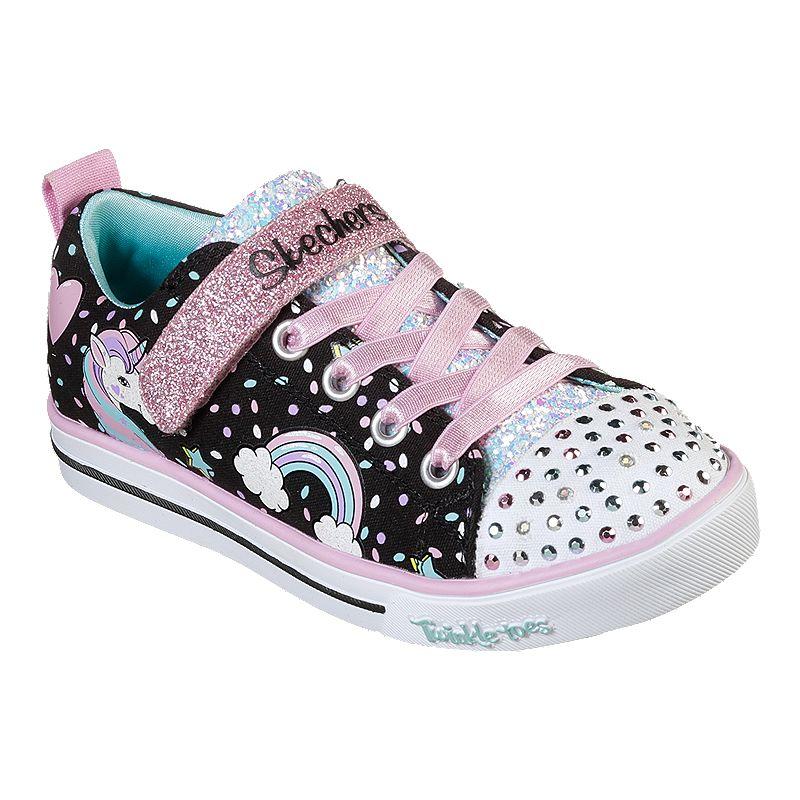 Cuaderno Adaptado aficionado  Skechers Girls' Sparkle Lite Unicorn Pre-School Shoes - Black/Multi | Sport  Chek