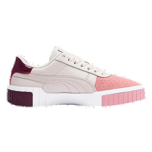 PUMA Women's Cali Remix Shoes - Beige/Pink