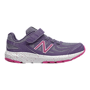 New Balance Girls' 519 Pre-School Shoes - Violet/Amethyst