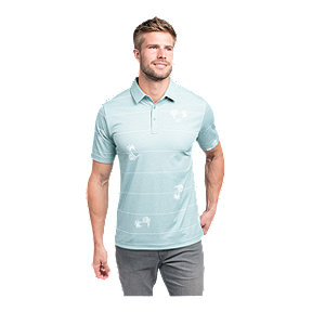 TravisMathew Men's Out Of Office Polo - Heather Beryl Green