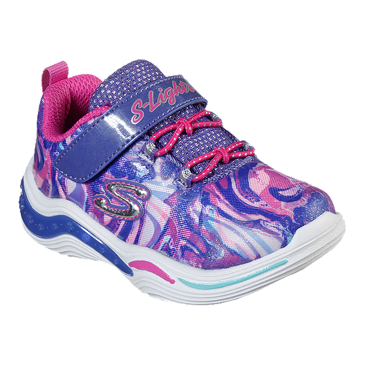 66ee412f587f Skechers Girl Toddler Power Petals Lights Shoes - Purple Pink Multi ...