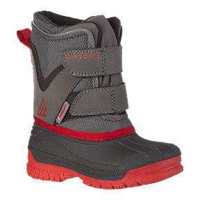 Ripzone Boy Toddler Dasher Winter Boots - Grey/Red