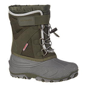 Ripzone Boys' Snow Jam II Winter Boots - Khaki/Grey