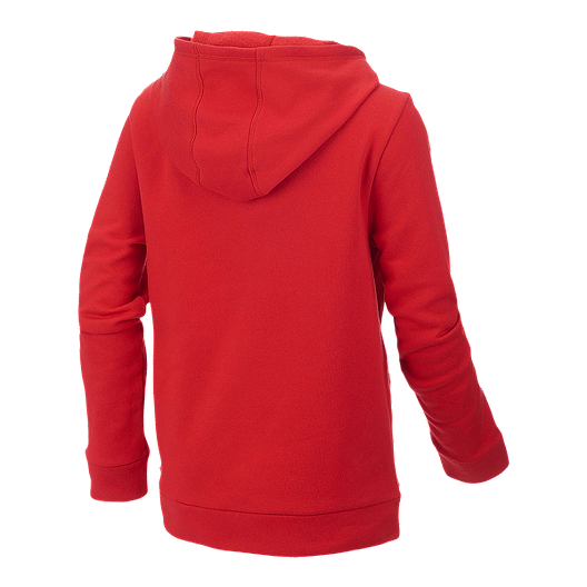 cb3056cc5f40 adidas Boys' Embossed Pullover Hoodie Scarlet
