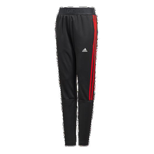 Recuerdo Conflicto Rectángulo  adidas Boys' Tiro 3-Stripe Pant - Black/Red   Sport Chek
