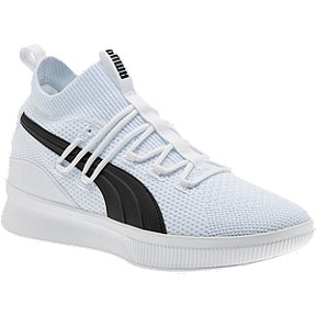 PUMA Kids' Grade School Clyde Court Jr. Basketball Shoes - White
