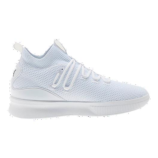best service c03c0 50b97 PUMA Kids' Grade School Clyde Court Jr. Basketball Shoes - White