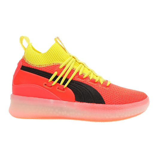 premium selection 95121 5eed7 PUMA Kids' Grade School Clyde Court Jr. Basketball Shoes - Red