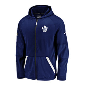 Toronto Maple Leafs Fanatics Authentic Pro Rinkside Gridback Full Zip Hoodie