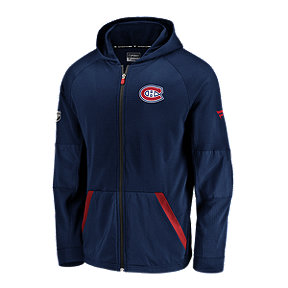 Montreal Canadiens Fanatics Authentic Pro Rinkside Gridback Full Zip Hoodie