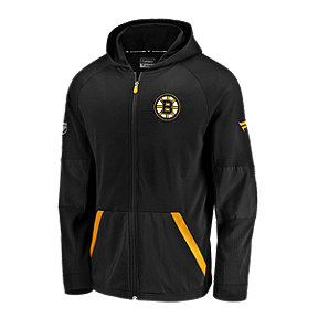 Boston Bruins Fanatics Authentic Pro Rinkside Gridback Full Zip Hoodie