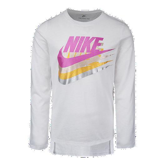 db35a091 Nike Toddler Girls' Futura Metallic Long Sleeve Top