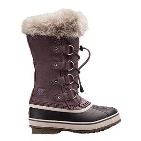 Columbia Girl/'s Sorel Winter Boots Youth Joan of Arctic Wedge II Chelsea Purple