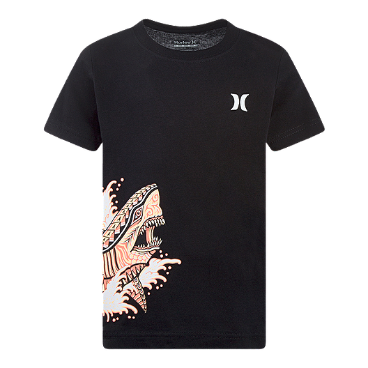 New Hurley short sleeve tee T shirt boys black shark or orange island 2T 3T 4T
