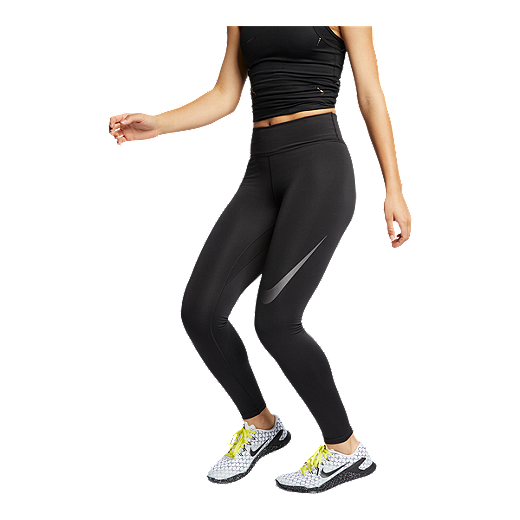 0d49e77d36 Nike Women's One Tights - BLACK/DARK GREY