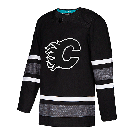 fc82ae3c9d3 Calgary Flames adidas Parley Authentic 2019 All-Star Black Game Jersey