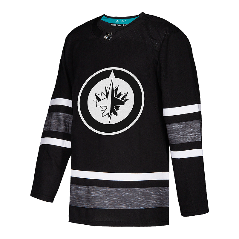 a84045ee6 Winnipeg Jets adidas Parley Authentic 2019 All-Star Black Game Jersey