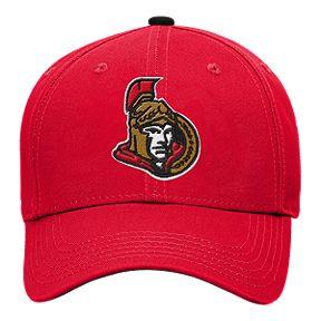 official photos 2468f 3aa14 Youth Ottawa Senators Basic Structured Adjustable Cap