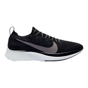 Nike Women s Zoom Fly Flyknit Running Shoes - Black White Grey e779d4d18