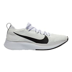 Nike Women s Zoom Fly Flyknit Running Shoes - White Black 240d47aa6
