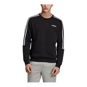 adidas Men's Essentials 3 Stripe Crew Sweatshirt