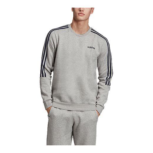cuenco portón meditación  adidas Men's Essentials 3 Stripe Crew Sweatshirt   Sport Chek