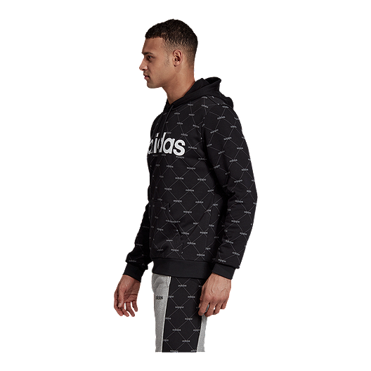 adidas Men's Core Favourite Printed Pullover Hoodie