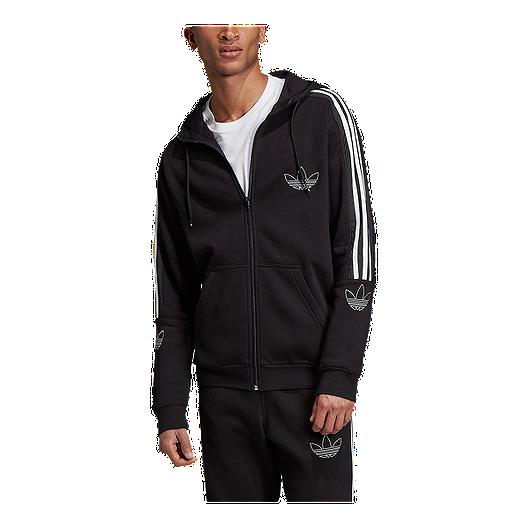 adidas Originals Men's Outline Fleece Full Zip Hoodie