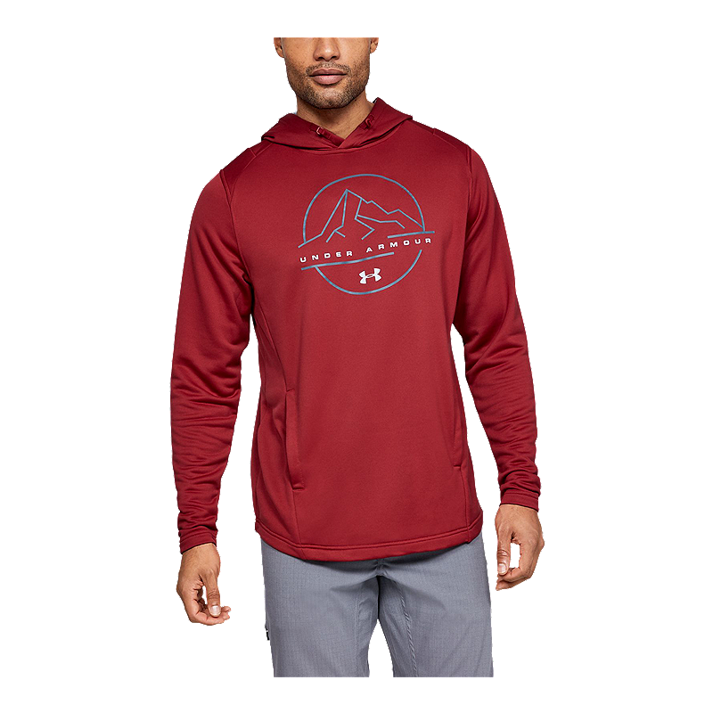 Under Armour mens Tech Terry Mountain Graphic Hoodie