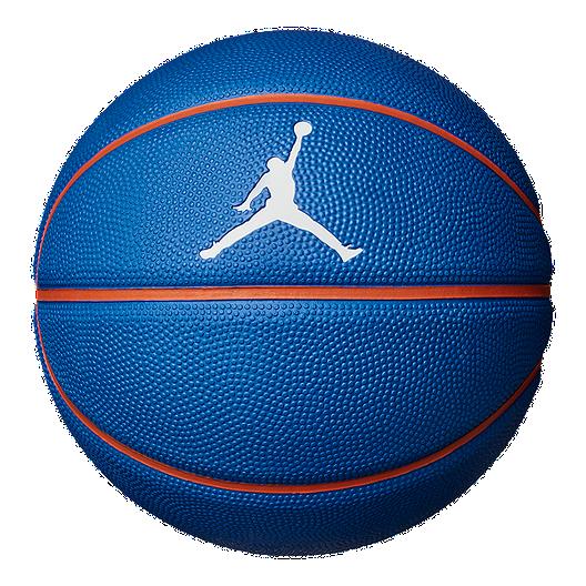 diversión paso Albardilla  Jordan Skills Mini Basketball - Blue/Orange | Sport Chek