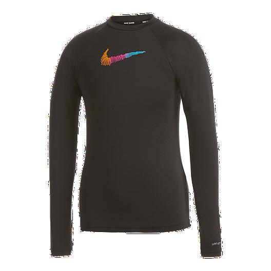 0d42e48382f Nike Girls Doodle Swoosh Long Sleeve Hydroguard | Sport Chek