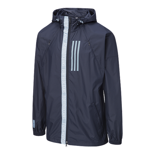adidas Men's Sport ID W N D  Parley Jacket - Legend Ink