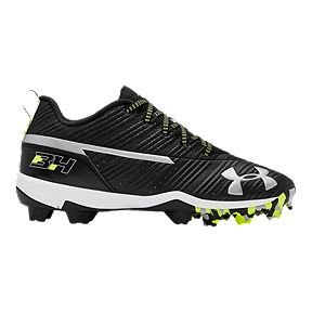 save off 61cb3 1cced Under Armour Boys  Grade School Harper 3 Low Baseball Cleats - Black White