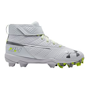 2818a0747c8 Under Armour Boys  Grade School Harper 3 Mid Cut Baseball Cleats - White