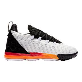 9c13b4da2f Nike Boys' LeBron XVI Pre-School Basketball Shoes - White/Black/Orange