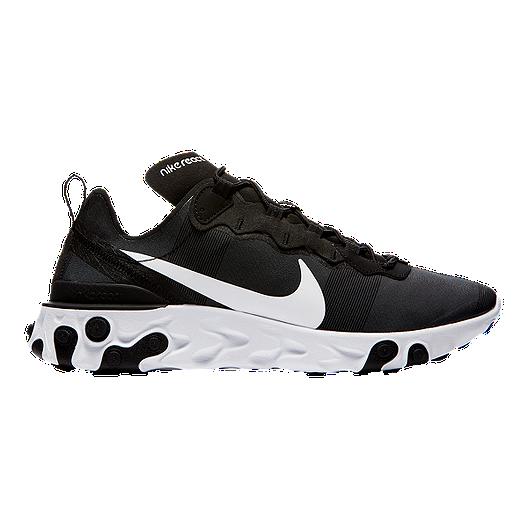 ce6527ba8a036 Nike Men s React Element 55 Shoes - Black White