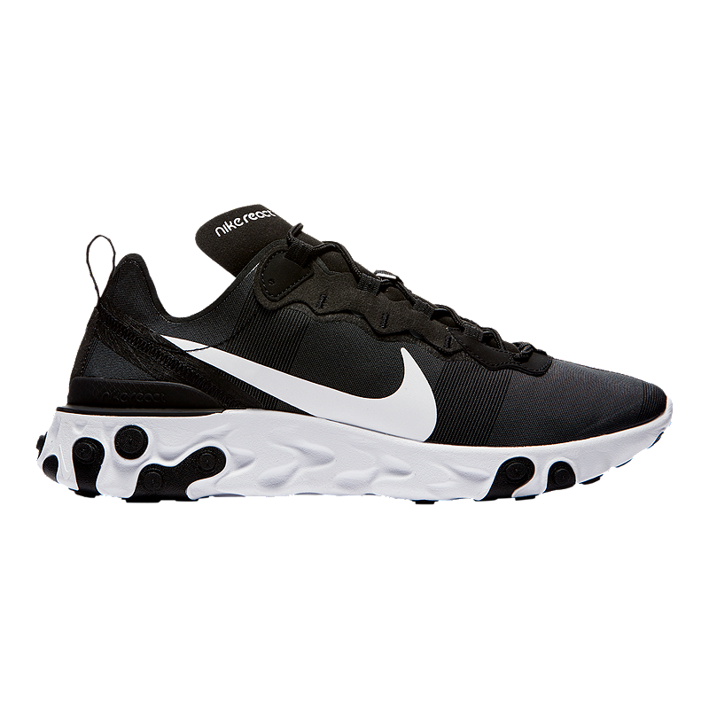 best loved a5303 3492a Nike Men s React Element 55 Shoes - Black White   Sport Chek